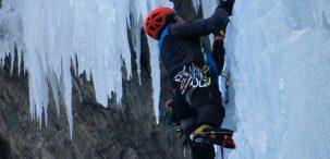 Cascada Geant des Tempetes 200m III WI5+ 90º (Valle de Fournel, Ecrins, Alpes) (Bertrand) 2206